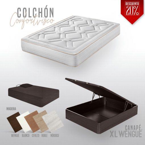 Canapé XL y Colchón Confortvisco