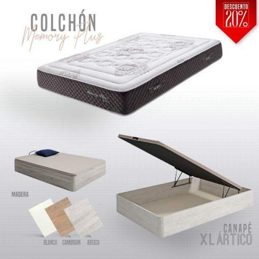 Pack canape XL y Colchón memory plus