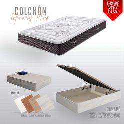 Canape xl y colchón memory plus