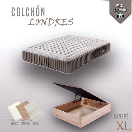 Canape XL y Colchón Londres